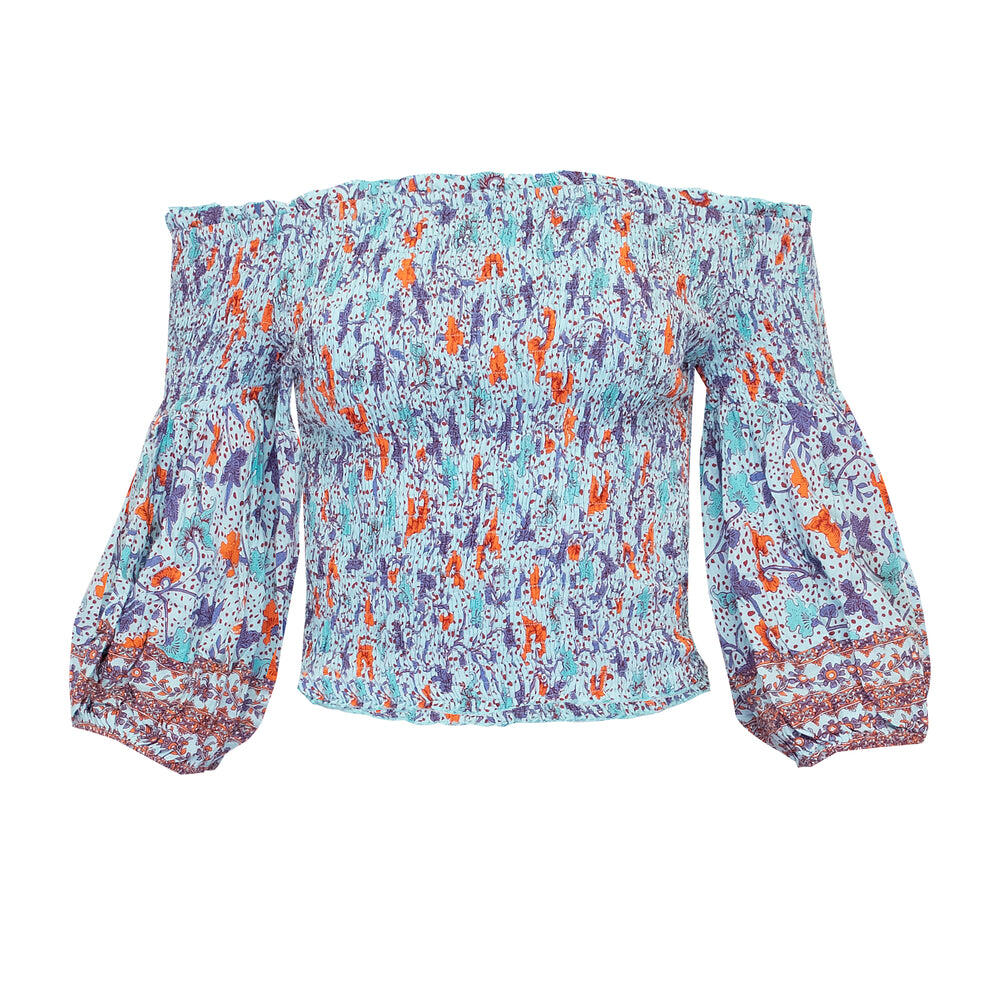 Top Ariel Smoched Sky Blue Clary