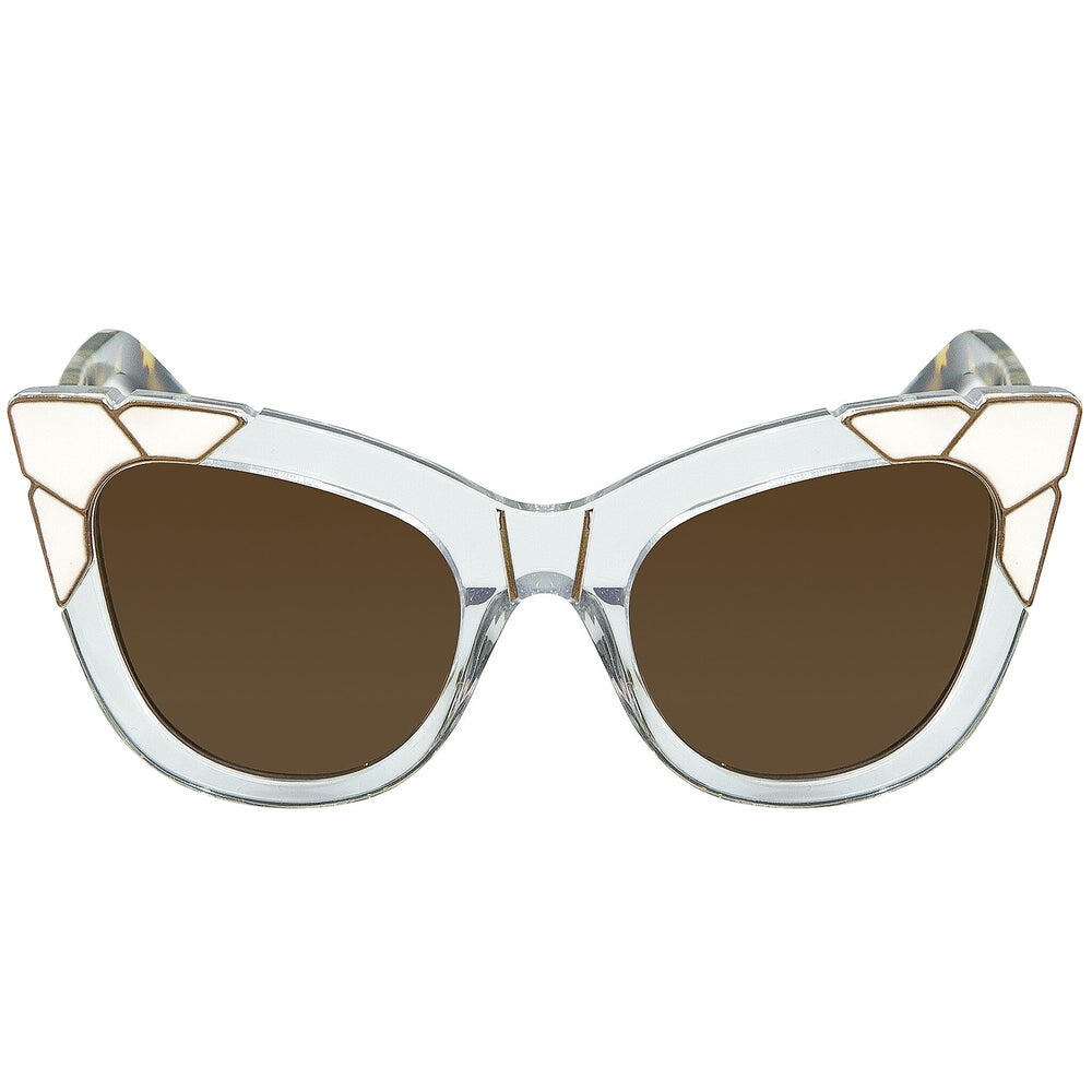 Pared Puss & Boots Clear White Tortoise