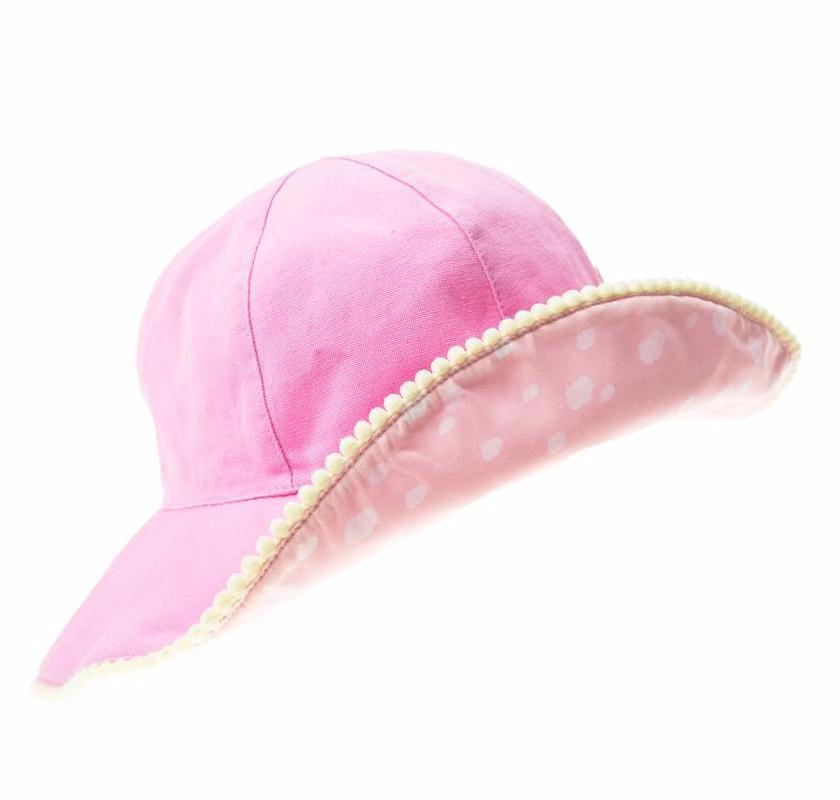Pom Pom Floppy Sun Hat Pink