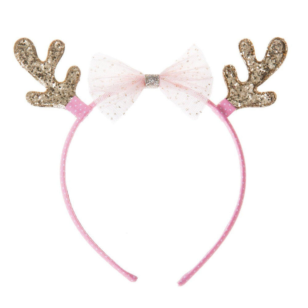 Rockahula Tulle Bow Reindeer Alice Band