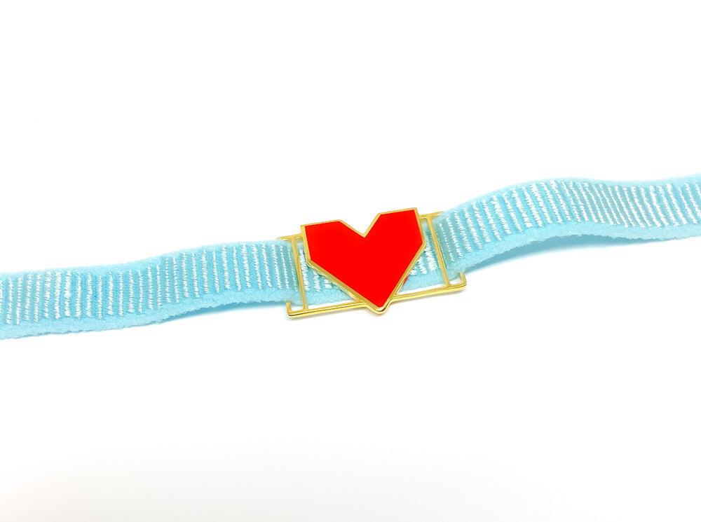 Heart Red Pendant Bracelet