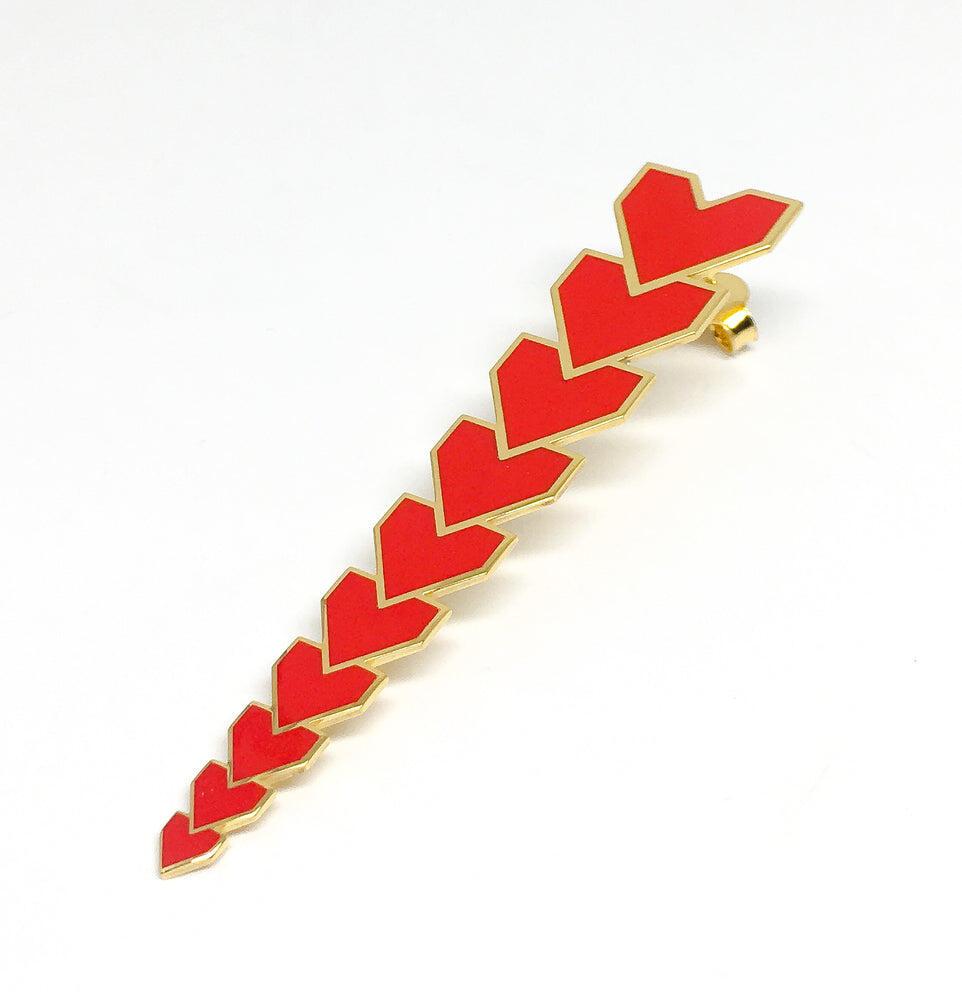 Red Heart Earring