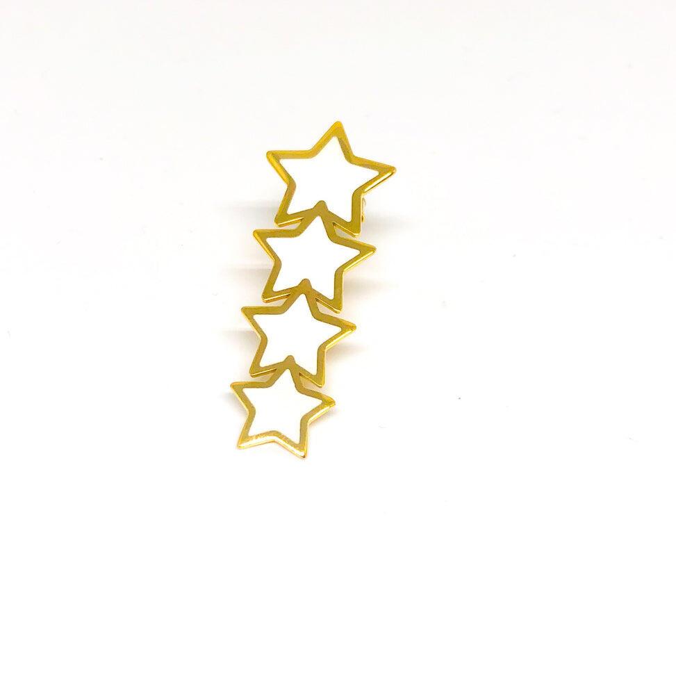 White Star Earring