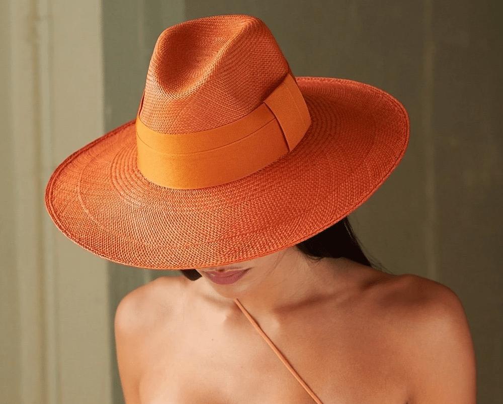Madagascar Clasico Wide Brim Hat Terracotta With Terracotta Band