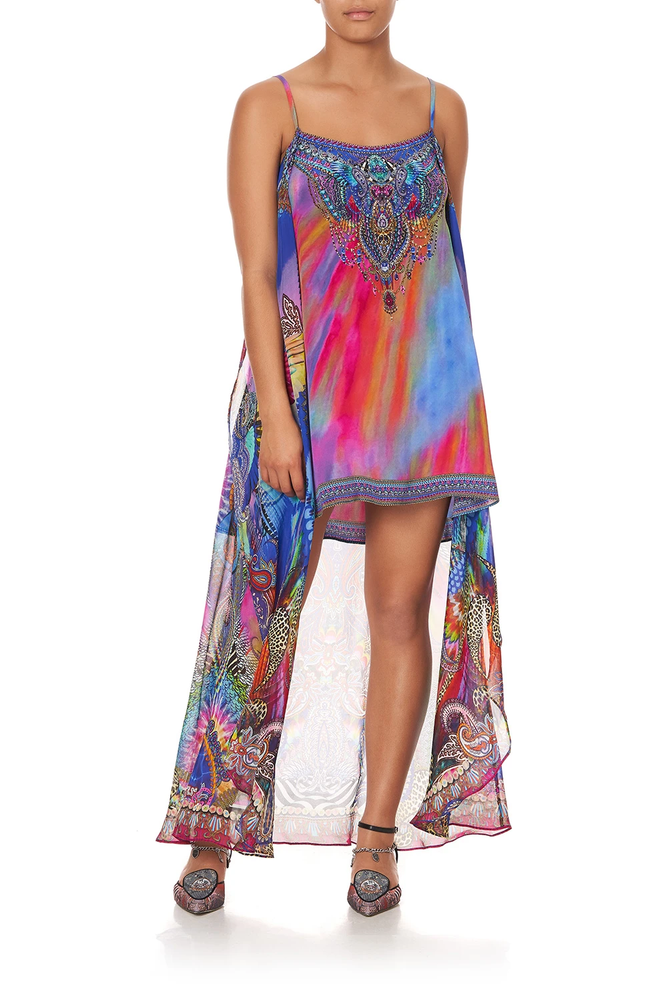 Mini Dress With Long Overlay Psychedelica