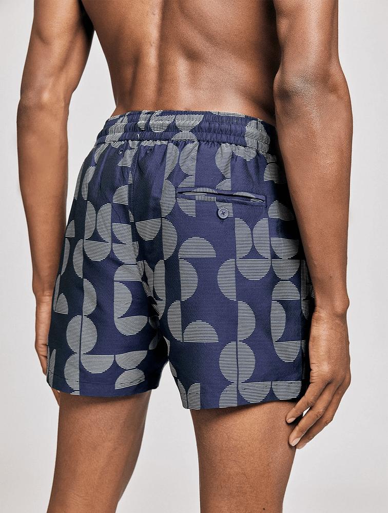 Sport Swim Shorts Jacquard Shade Navy Blue