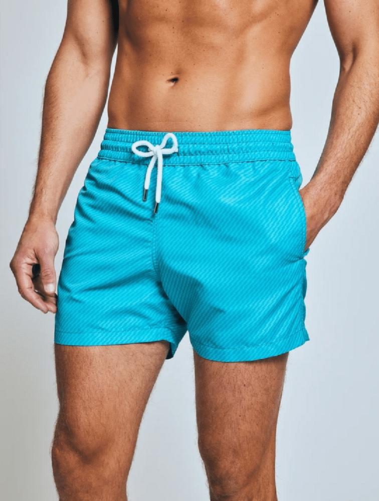 Sport Swim Shorts Pepe Tonal Print Tile Blue