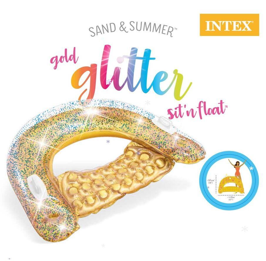 Glitter Sit & Float Gold