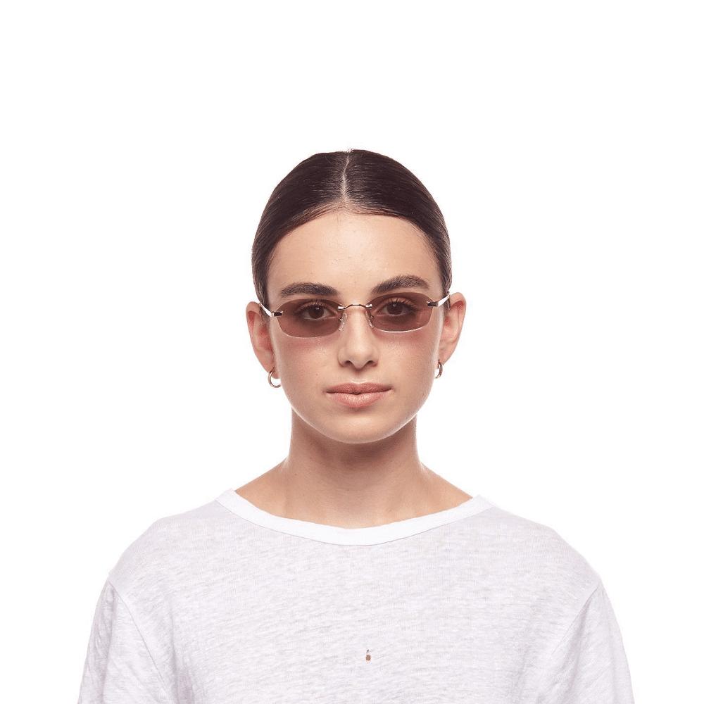 Adolfo Bright Gold/Purple Sunglasses