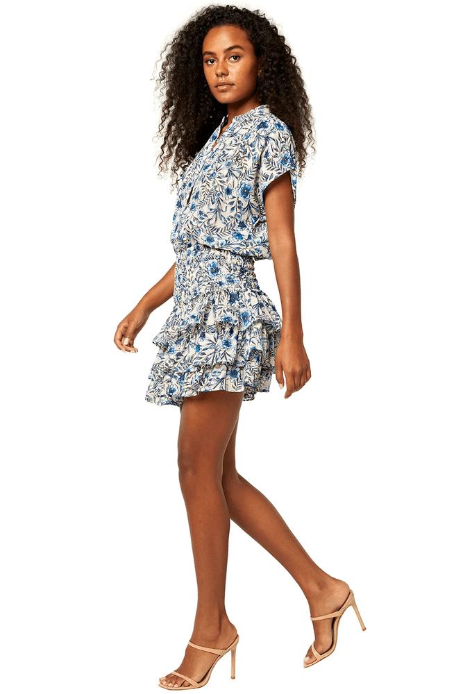 Eloisa Dress Indigo Blooms