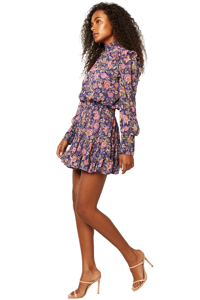 Gianna Dress Navy Falaise Floral