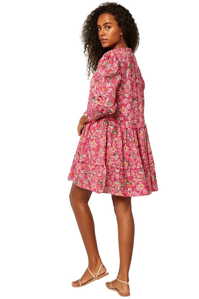 Maya Dress Pink Falaise Floral