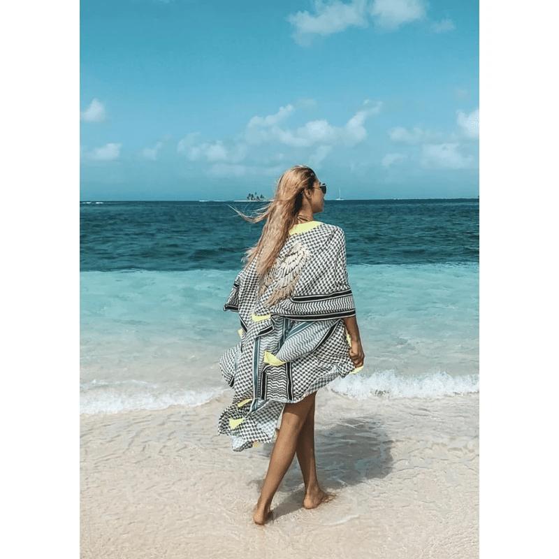 Silk Tunic Beach Cover Up