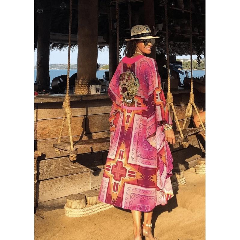 Boho Silk Kimono