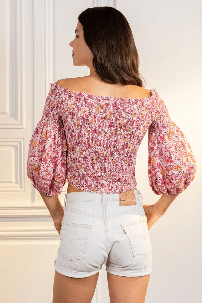 Top Ariel Smoched Pink Clary