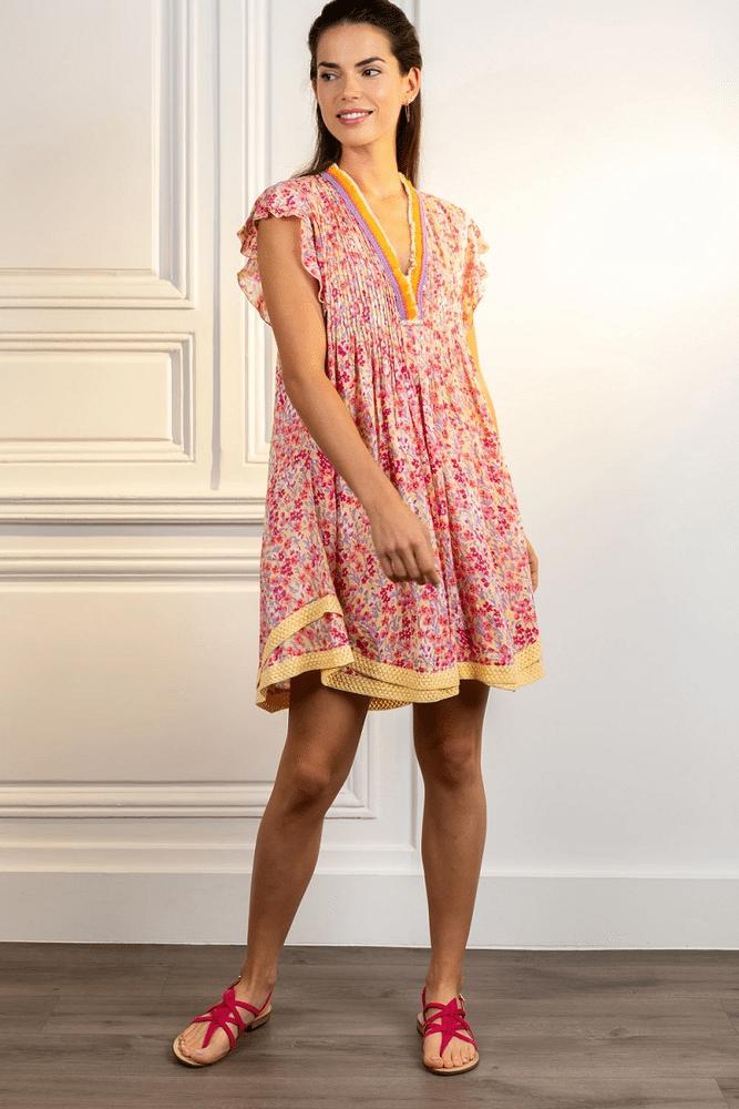 Mini Dress Sasha Purple Daffodil