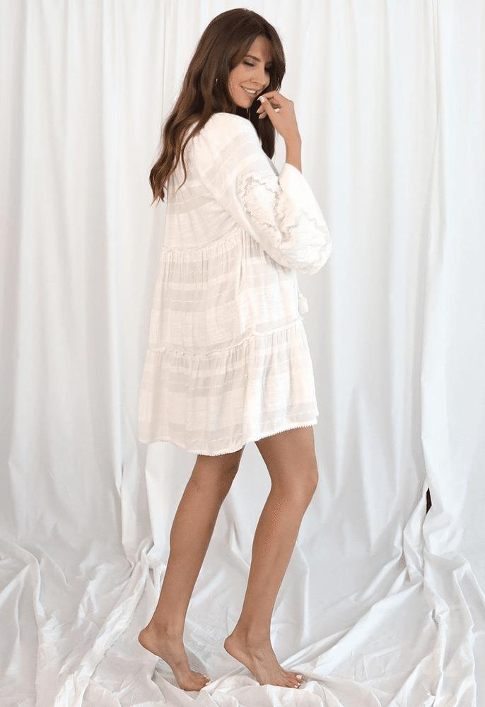 My Sweet Mini Dress Simply White