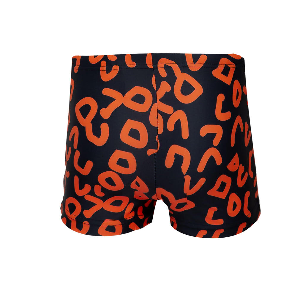 Boys Swim Shorts in Black Geo