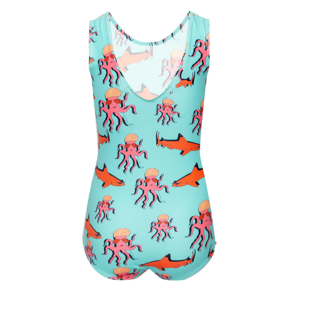 Little Girls One Piece Swimsuit in Turquoise