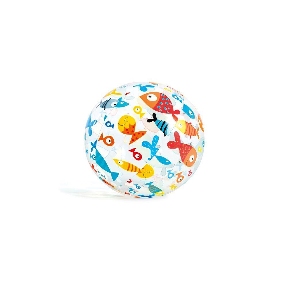 Lively Print Ball In Fish Print