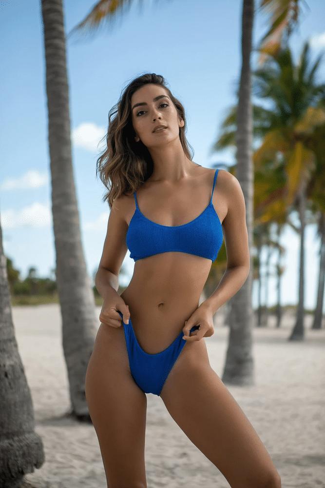 Maldives Bikini Top Blue