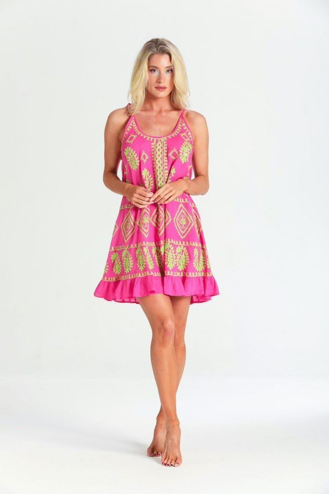 Olivia Neon Pink Lime