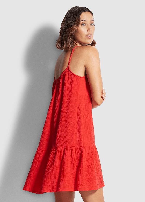 Double Cloth Day Dress Chilli