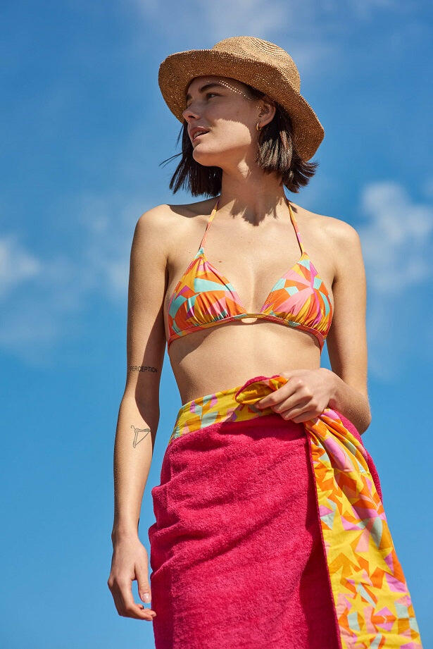 Shooting Stars Tie Side Bikini Top