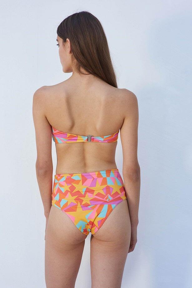 Shooting Stars High Rise Bikini Top