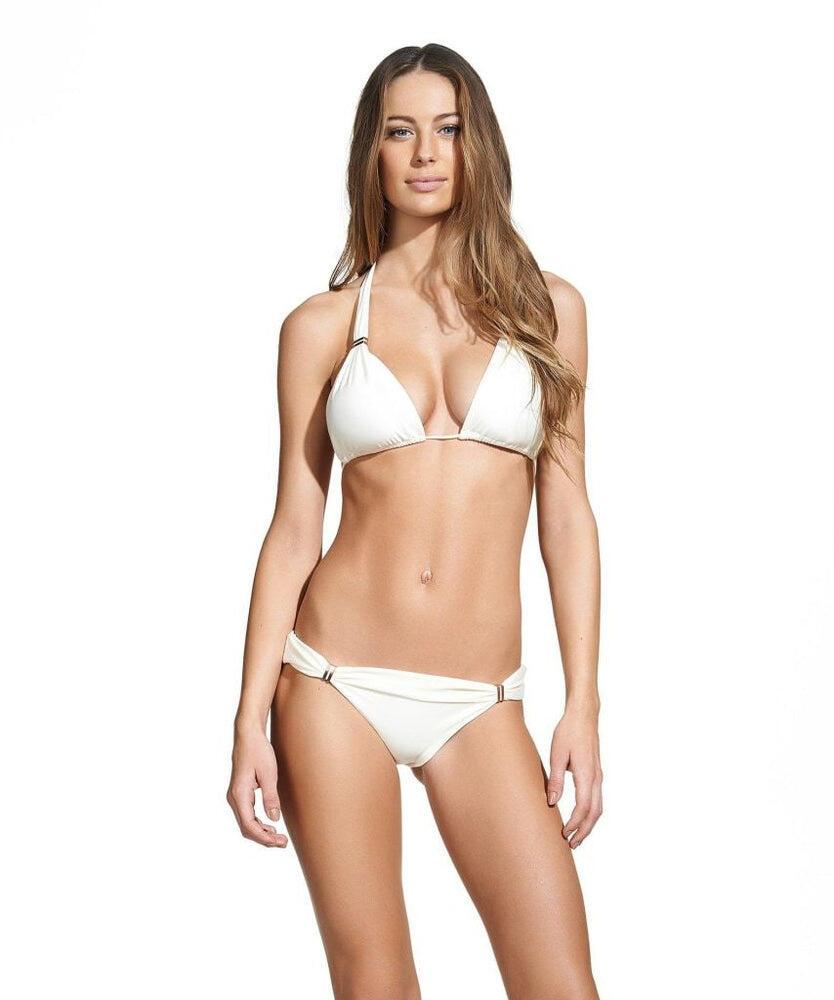 Solid Bia Tube White Full Cut Bikini Bottom