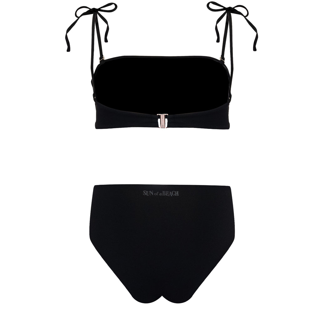 Just Black High Rise Bikini Top