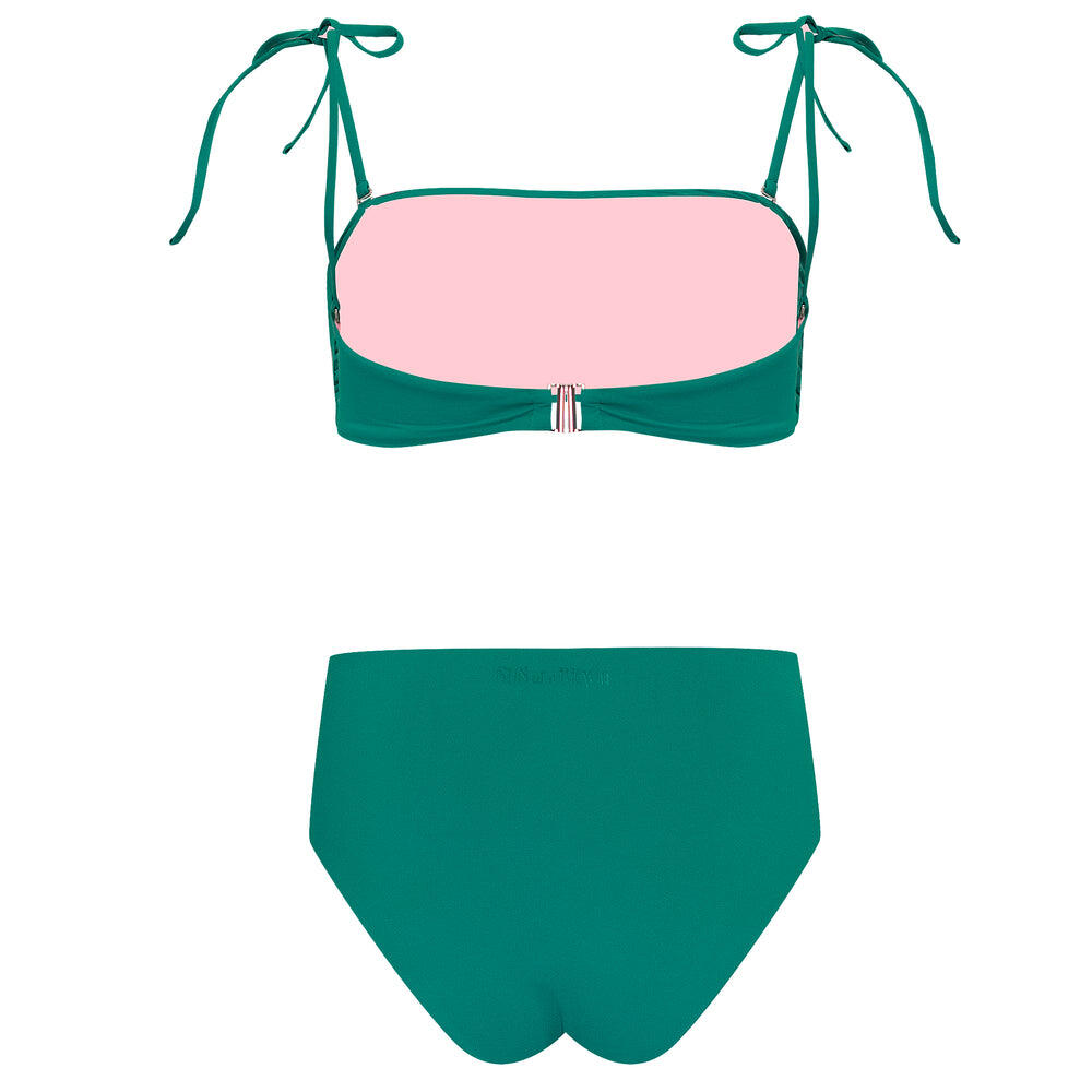 Just Emerald High Rise Bikini Top