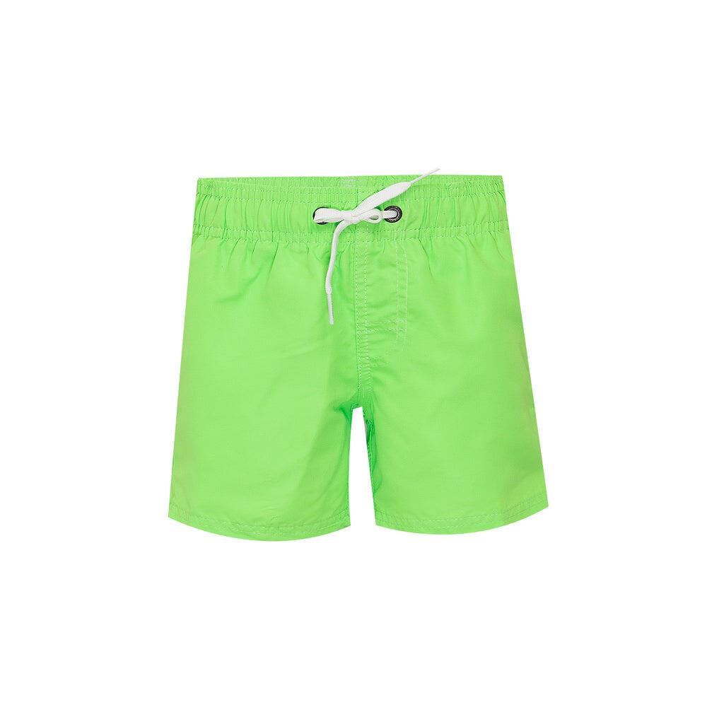 Boys Elastic Waist Swim Lime Green