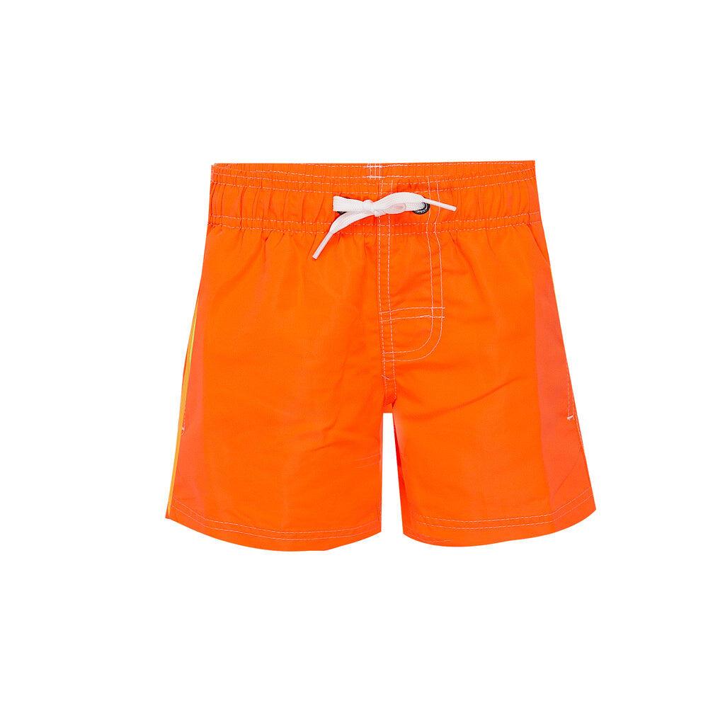 Elastic Waist Swim Trunks Flou Orange