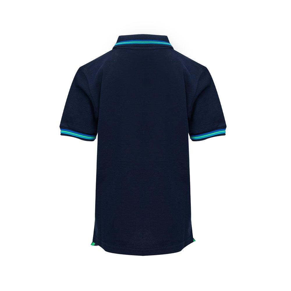 boys navy blue polo shirt
