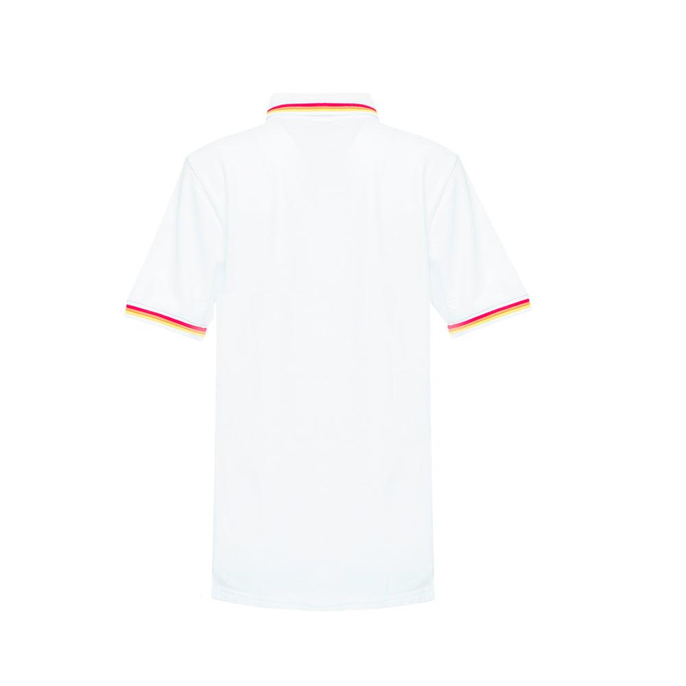 kids white polo shirt