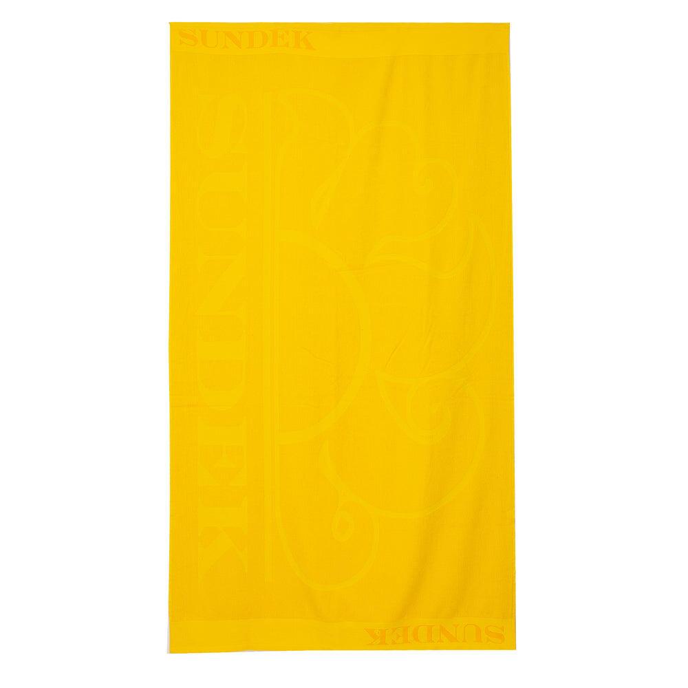 Logo Beach Towel Carioca Yellow