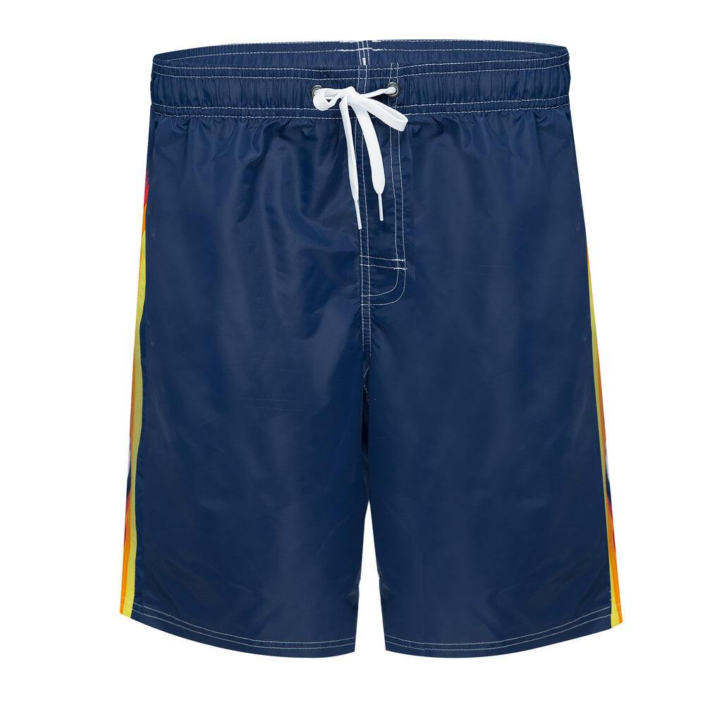 Long Board Shorts in Navy Blue