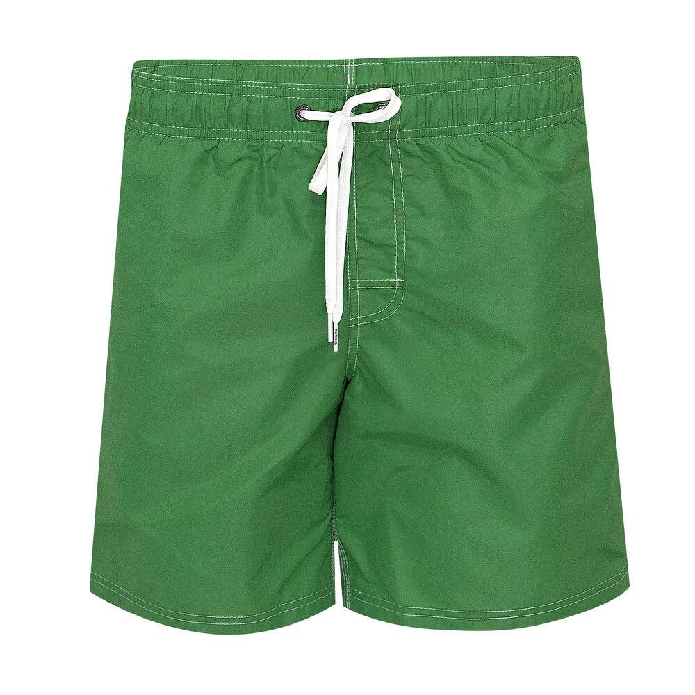 "Mens Elastic Waist 16"" Swimtrunks Amazon Green"