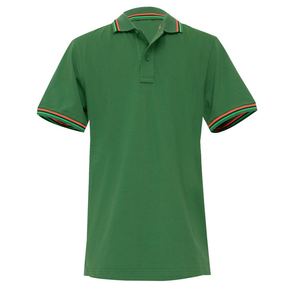 Mens Brice Polo Shirt in Pique Amazon Green