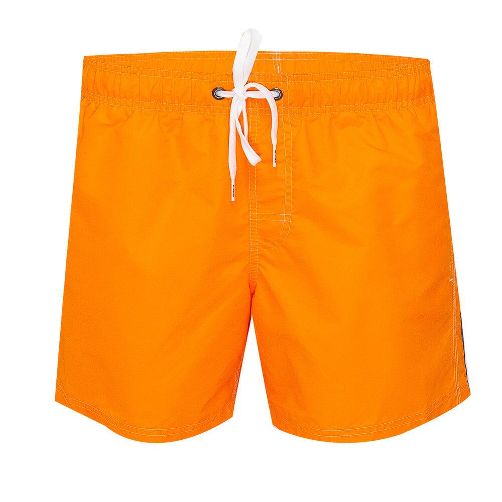 "Mens Elastic Waist 14"" Swimtrunks Florida Orange"