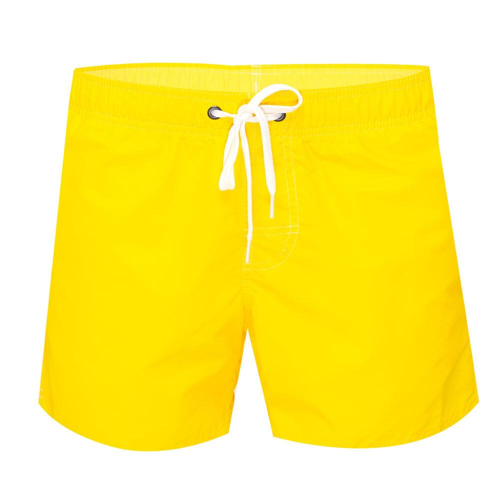 "Mens Elastic Waist 14"" Swimtrunks Carioca Yellow"