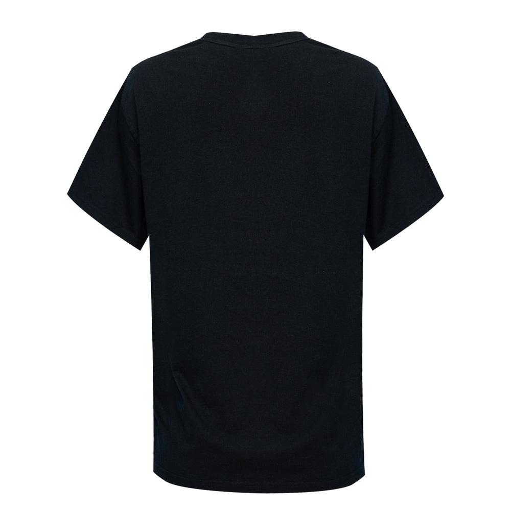 men's black geometric print t shirt
