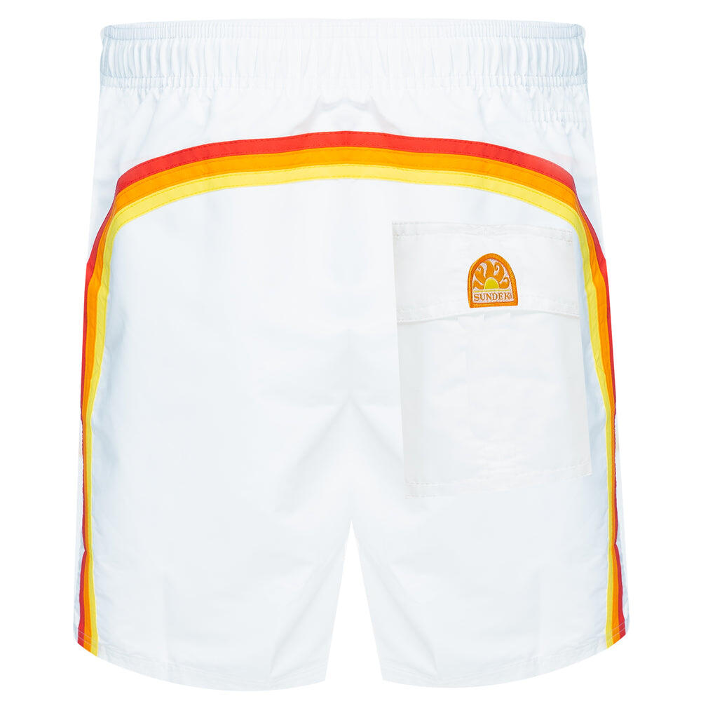 mens white swim shorts