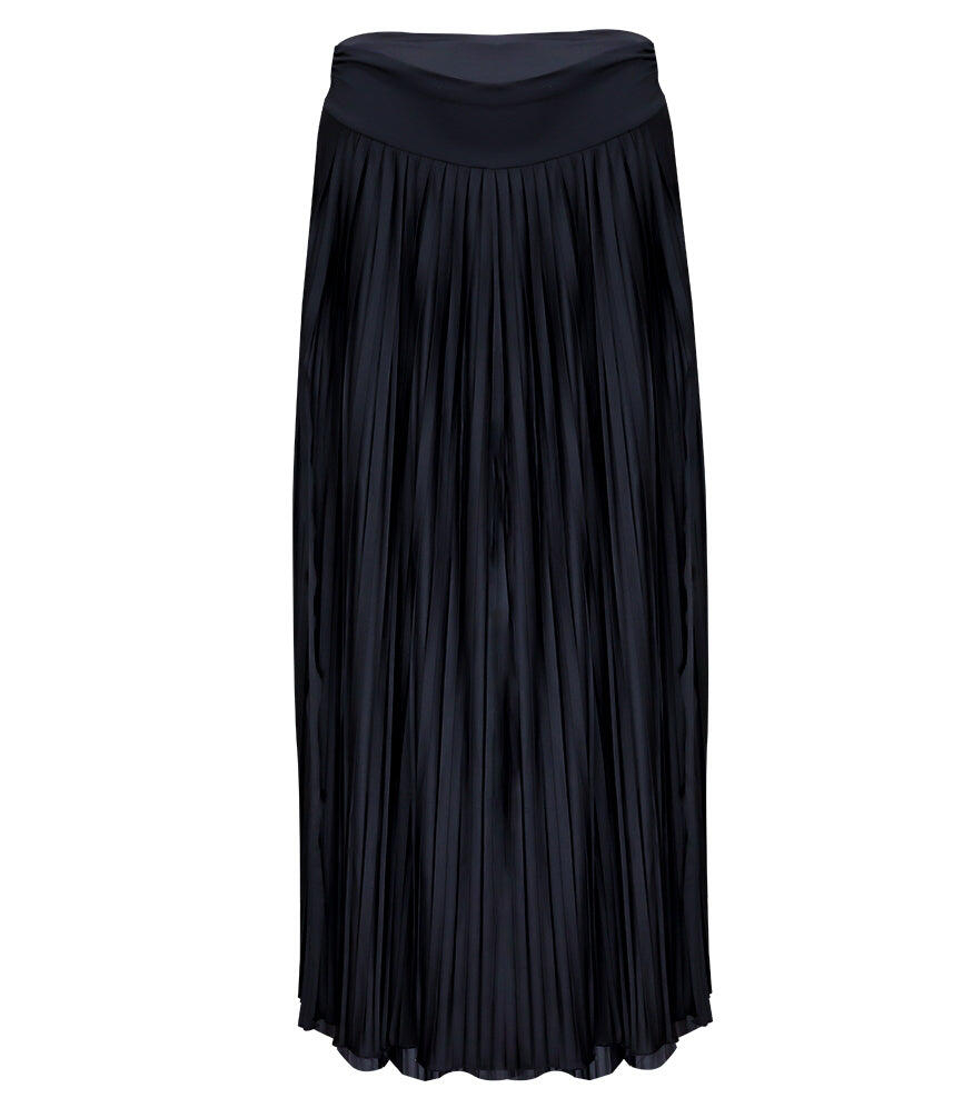 Sunrise Pleated Maxi-Skirt - Black