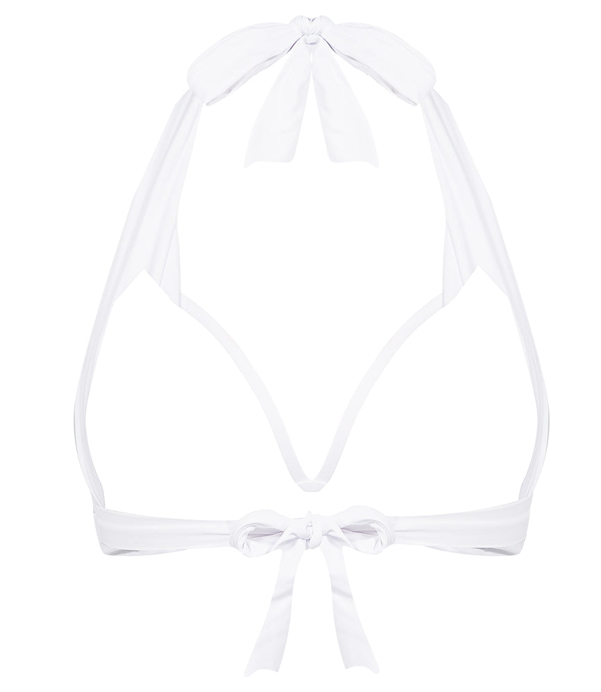 Solid Halter Top - White