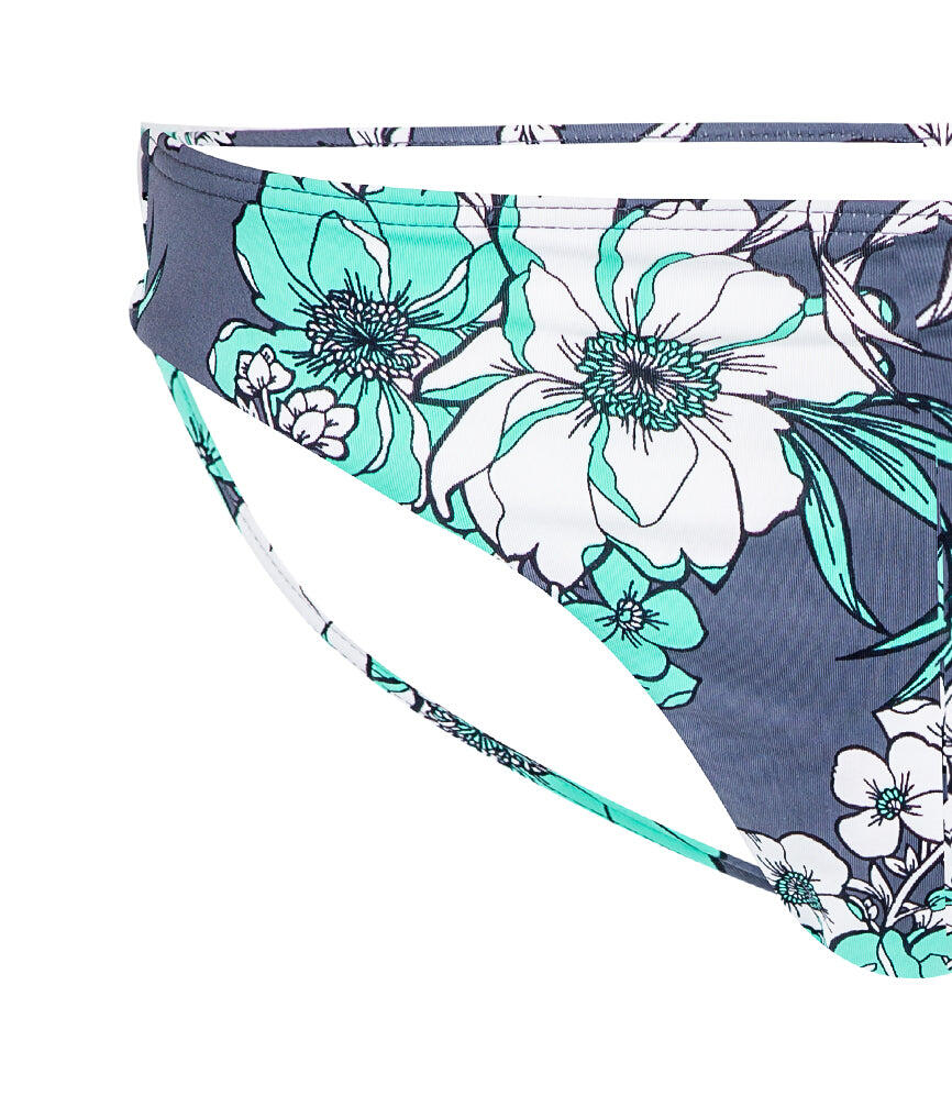 Mexican Floral Hipster Pant - Slate