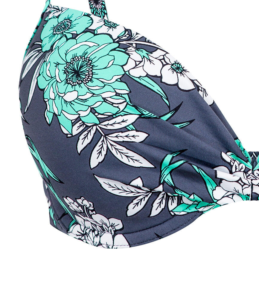 Mexican Floral Moulded Top - Slate