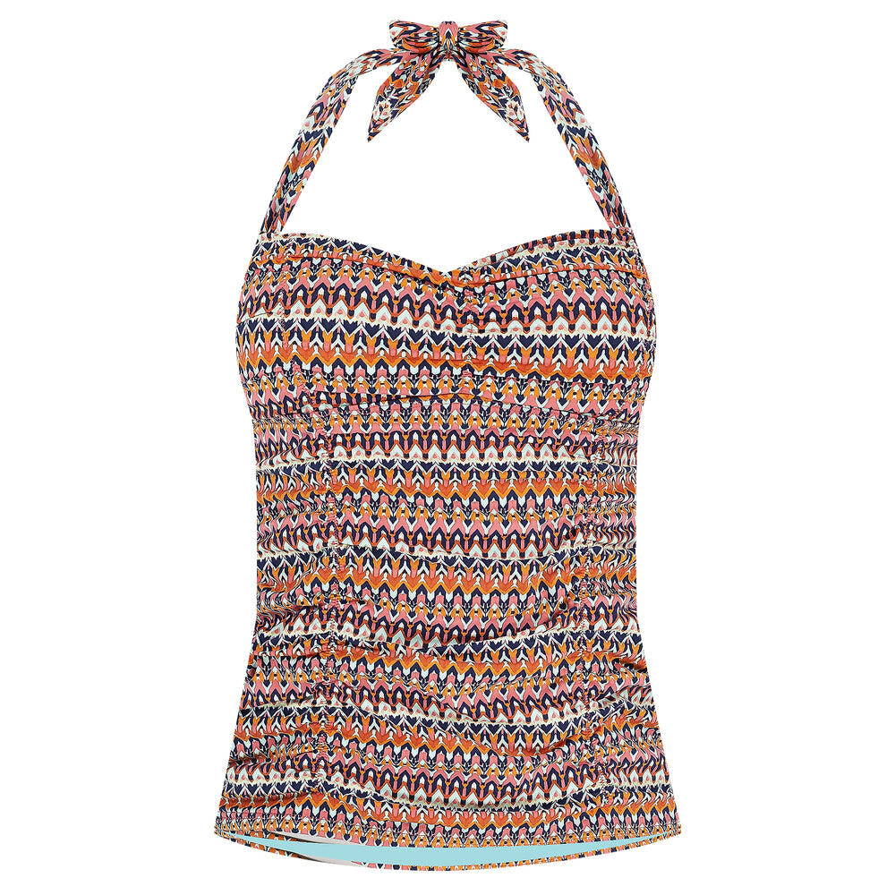 Missoni Ruched Halter Tankini - Punch