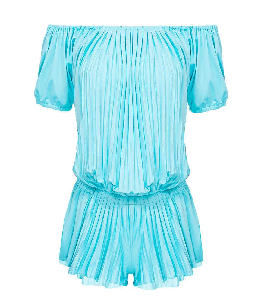Sunrise Pleated Jumpsuit - Aqua